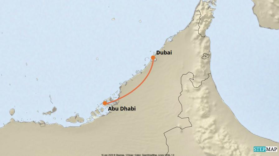Karte der Reise: Luxus Privatreise